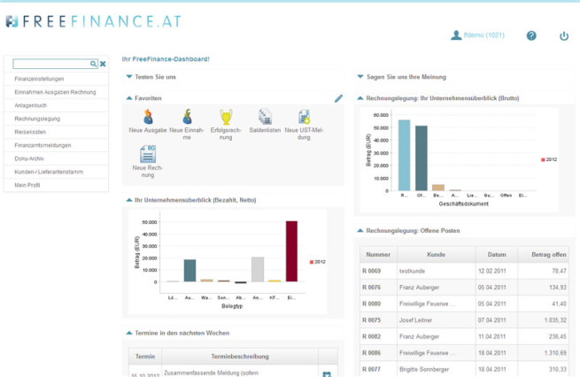 freefinance interface