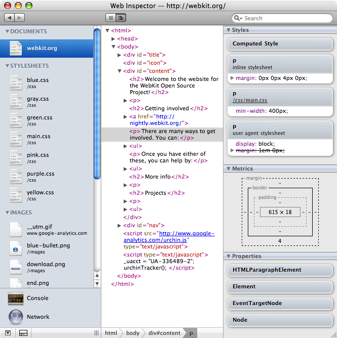 Webkit catching up with Firefox and Firebug